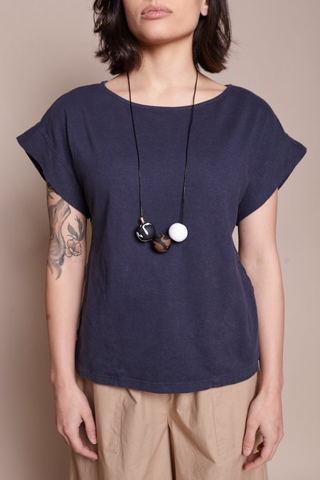 Peppertrain The Everyday Necklace - Black/Brown