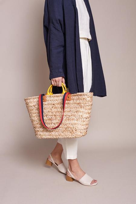 Clare V. Woven Le Big Sac - Natural