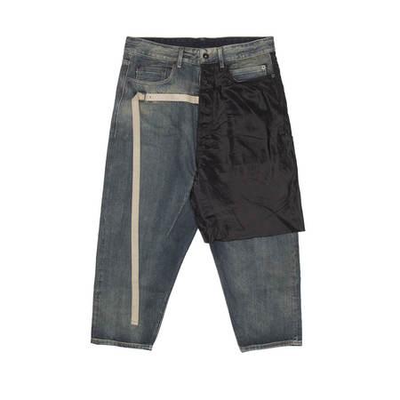 Rick Owens Drkshdw Combo Collapse Cropped Jeans - Hustler