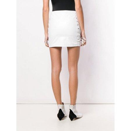 Manokhi Biker 2 skirt - White