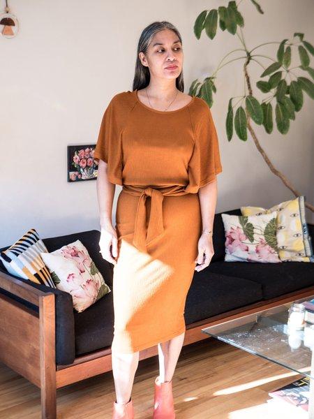 Eve Gravel Tyr Dress - Amber
