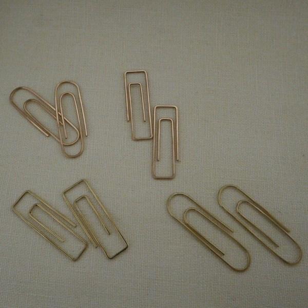 Aoko Su Paper Clip Hoops