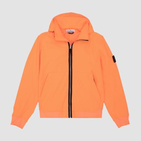 Stone Island Light Soft Shell-R Fixed Hood Jacket - Orange