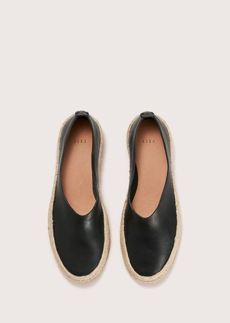 FEIT ESPADRILLE HAND SEWN BALLET - Black