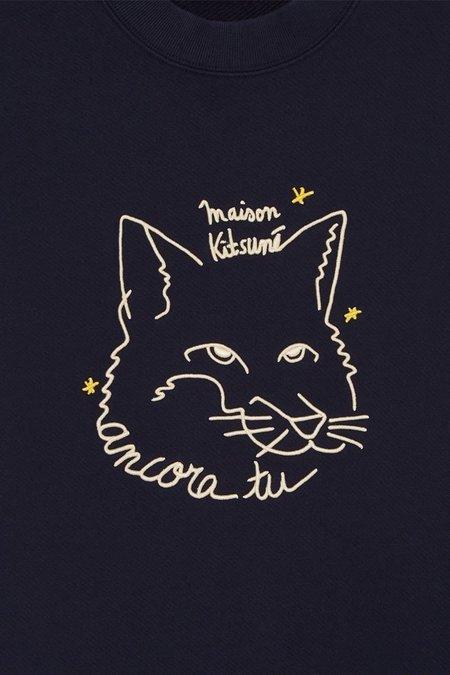 Maison Kitsune Ancora Sweatshirt - Navy