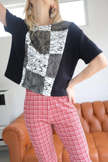 Beklina T-Shirt Patched Print - Black