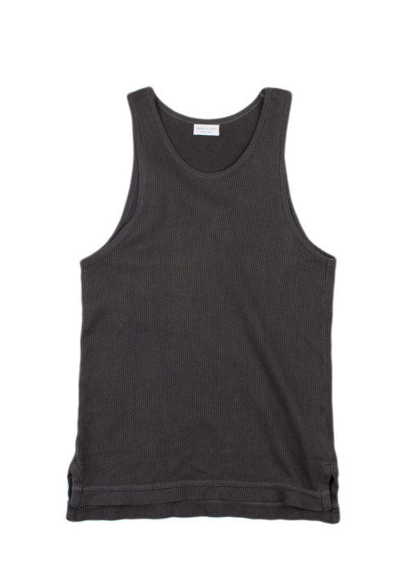 John Elliott- Flat Back Thermal Mercer Tank Black