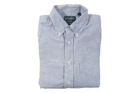 Gitman Bros. Linen Shirt - Blue Stripe