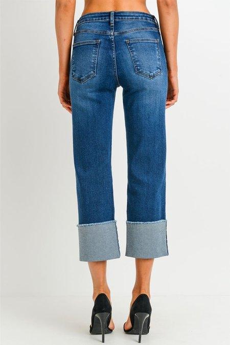 Just Black Hi Rise Straight Leg Jean