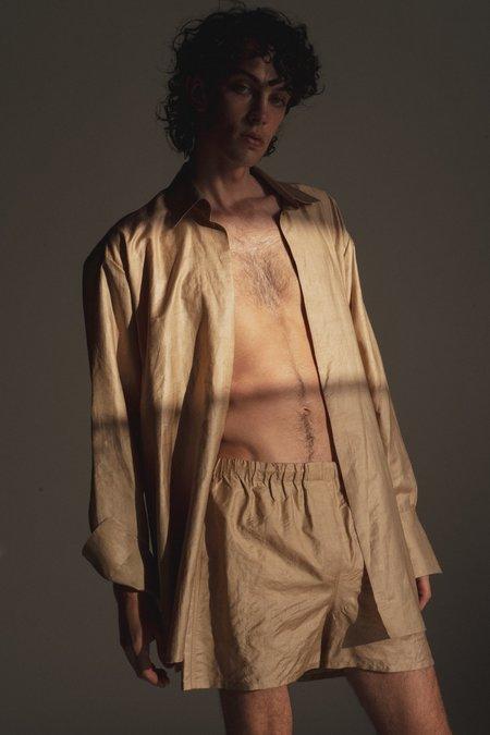 LUDOVIC DE SAINT SERNIN Hand Woven Silk Soft Shorts