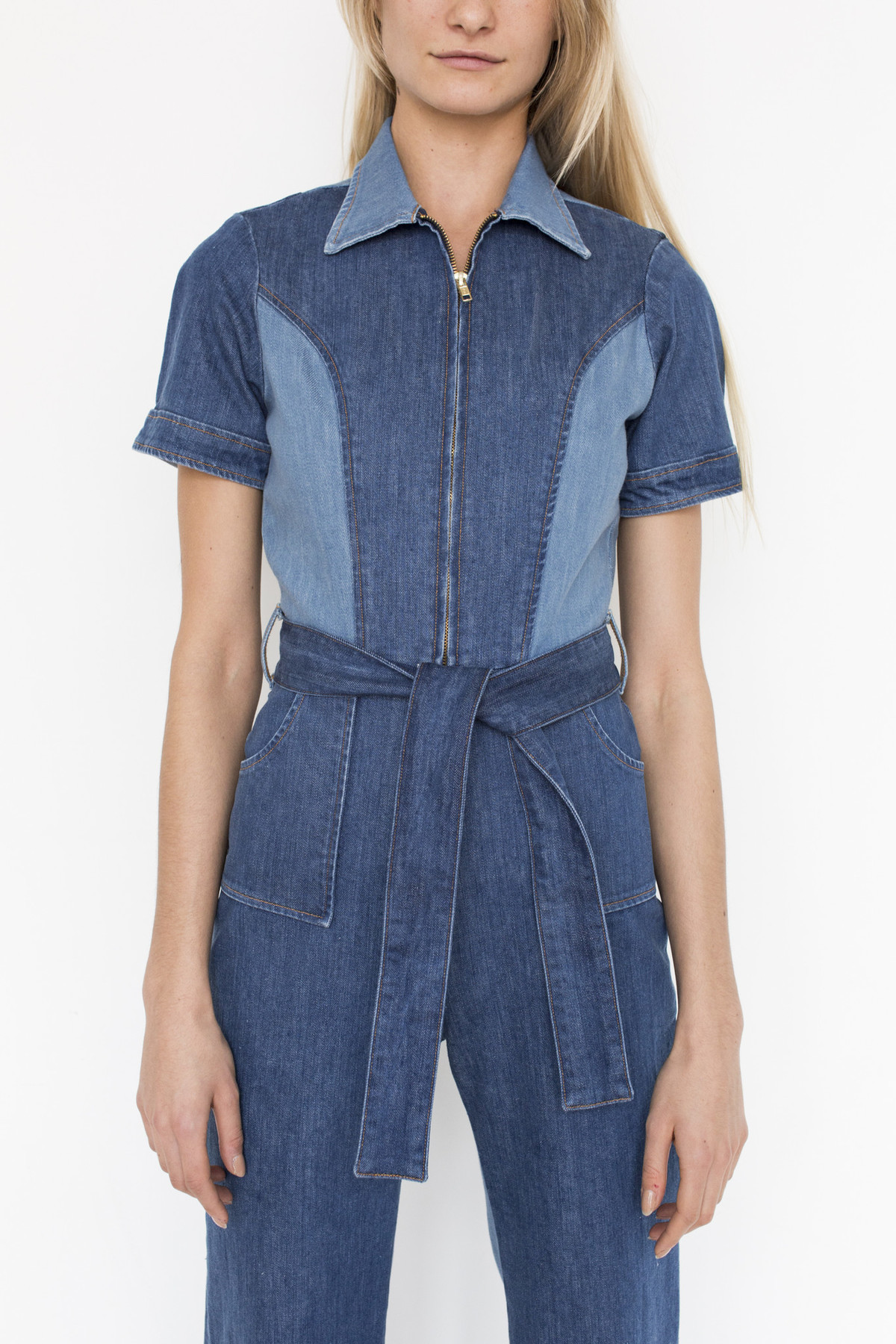 c8d48b51bd60 Stoned Immaculate Denim Blue Jean Baby Jumpsuit