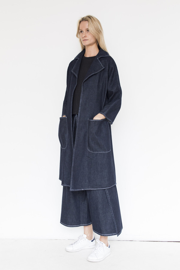 Shaina Mote Denim Swing Trench