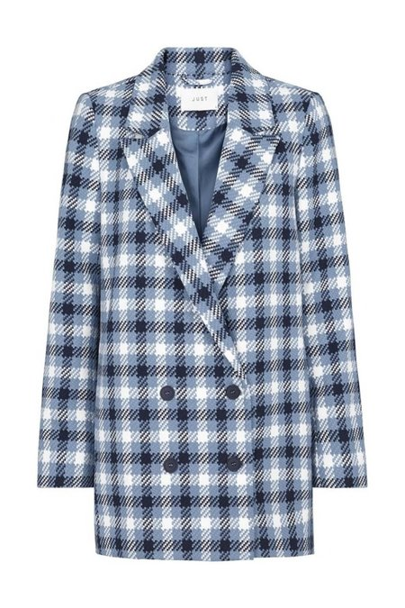 Just Female Holmes Double Breasted Blazer - Blue Check