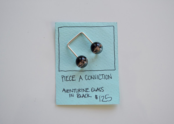 Piece A Conviction: Black Aventurine Glass Ring