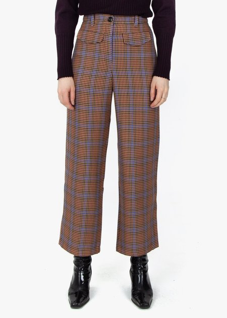 fomme Pipe Trousers - Houndstooth