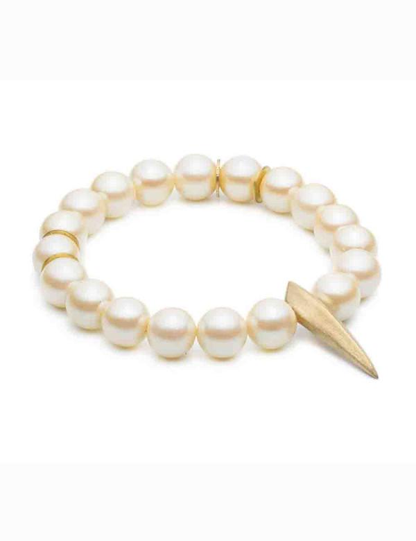 Natalie Frigo Medium Claw And Pearls Bracelet