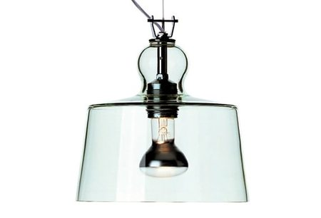Michele de Lucchi ACQUATINTA SUSPENDED LAMP - GREEN MURANO GLASS