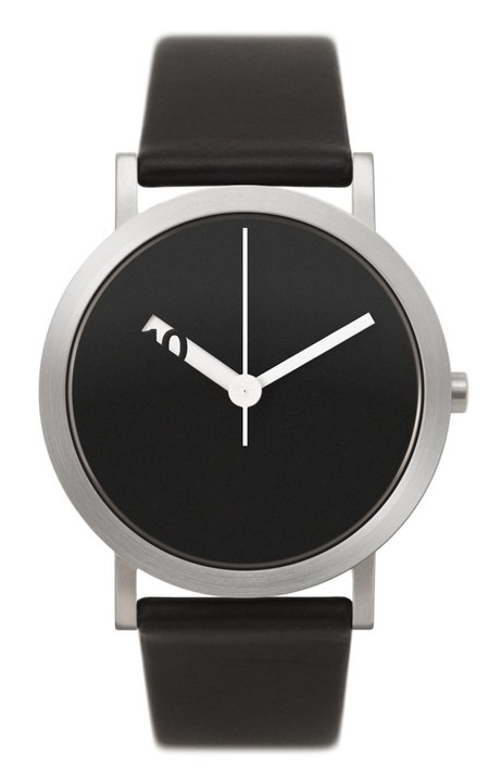 Extra Normal Timespieces Grande EN22-L20BL Watch - BLACK/STEEL