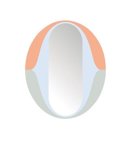Domestic The O Mirror - Multicolored