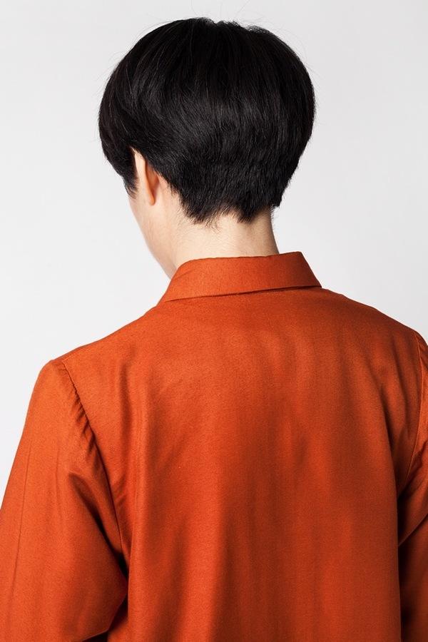 Kaarem Breeze Button Down - regale red orange