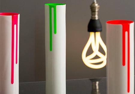 Block Design Vase - Neon Green