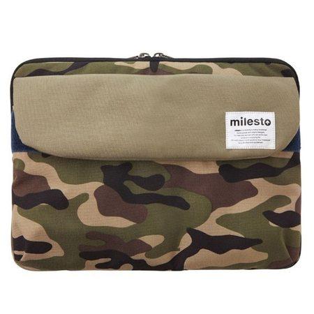 """MILESTO 13"""" LAPTOP CASE - ARMY GREEN"""
