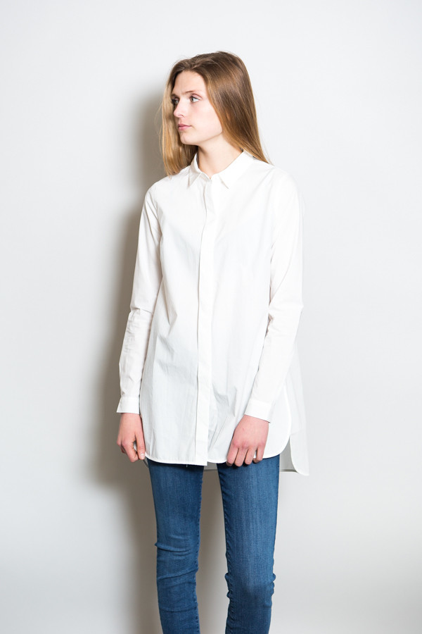 Pocca Long Shirt White