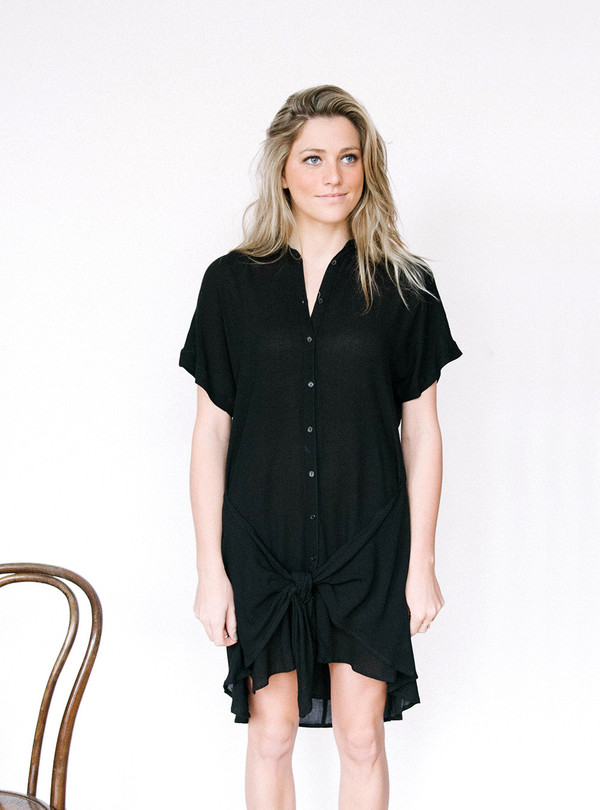 Lush Tie Front Dress
