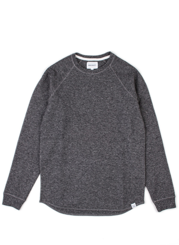 Norse Projects Aske Fine Structure Charcoal Melange
