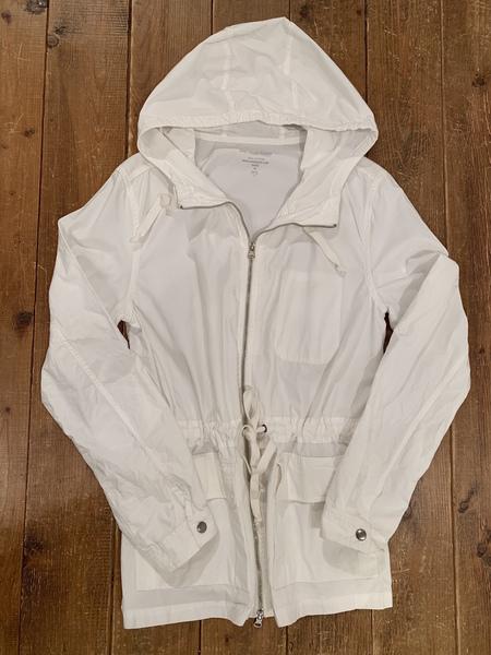 Save Khaki Poplin Parka Jacket - white