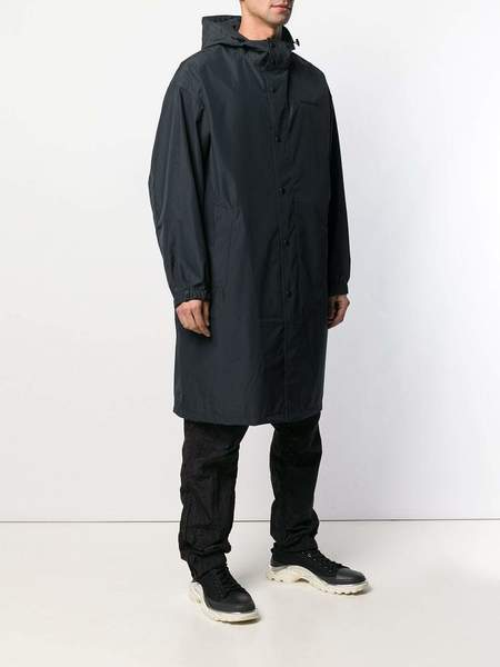 HELMUT LANG Recycled Nylon Hooded Raincoat - Black