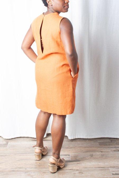 KAAREM Dust Sleeveless Petite Pocket Dress - Red Sand