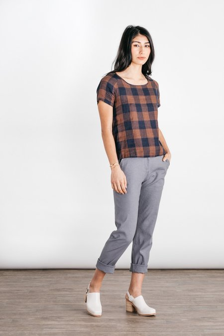 Bridge & Burn Gingham Reese Shirt - Navy/Rust