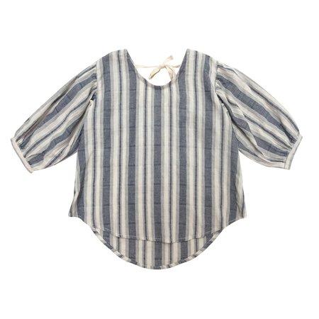 KIDS nico nico Theodora Blouse - Navy Sailor Stripe
