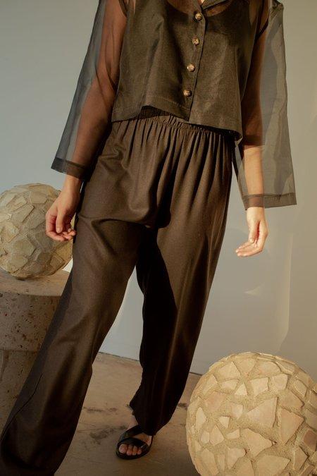 OR Elastic Raw Silk Pant - Black