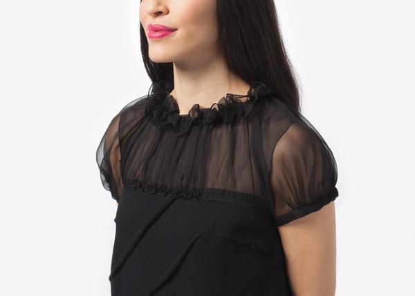 Amelia Toro Fringe Crepe Dress