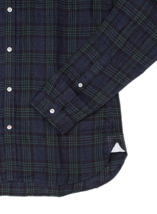 Men's Oliver Spencer Eton Collar Shirt Levant Indigo