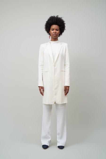 Nomia SLIT BACK COAT - IVORY