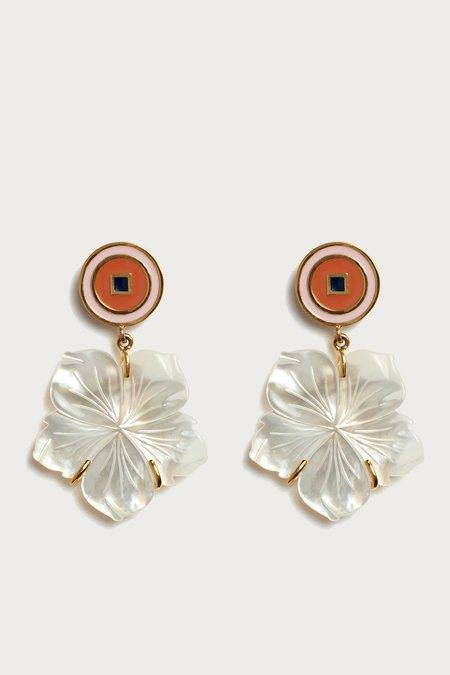 Lizzie Fortunato Monte Carlo Flower Earrings - pearl