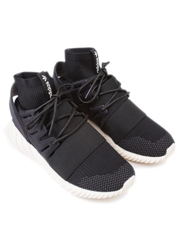 Men's Adidas Tubular Doom Primeknit Black