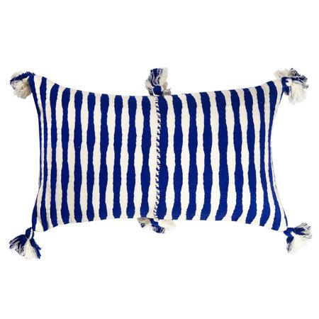 Archive New York Antigua Pillow - Royal Blue Stripe