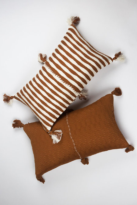 Archive New York Antigua Pillow - Umber Stripe
