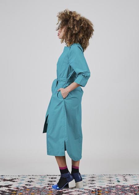 Odeeh Belted 3/4 Sleeve Dress - Emerald