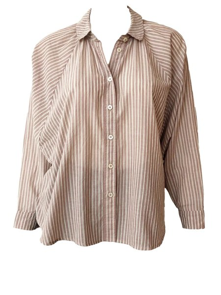 The Great. Estate Button Up - Antique Dobby