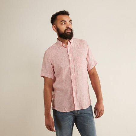 Hartford Sander MC Woven Shirt - Red Oxford Stripe