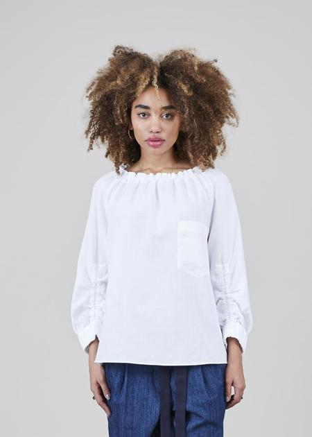 Odeeh Ruched Summer Top - white