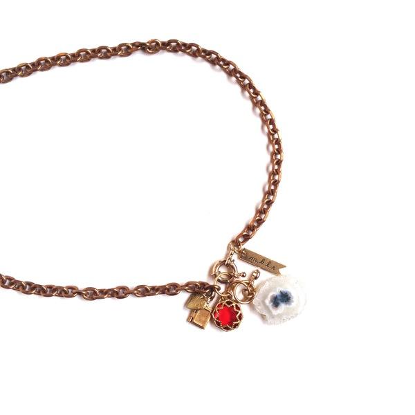 Marijke Bouchier Crystal burst locket necklace