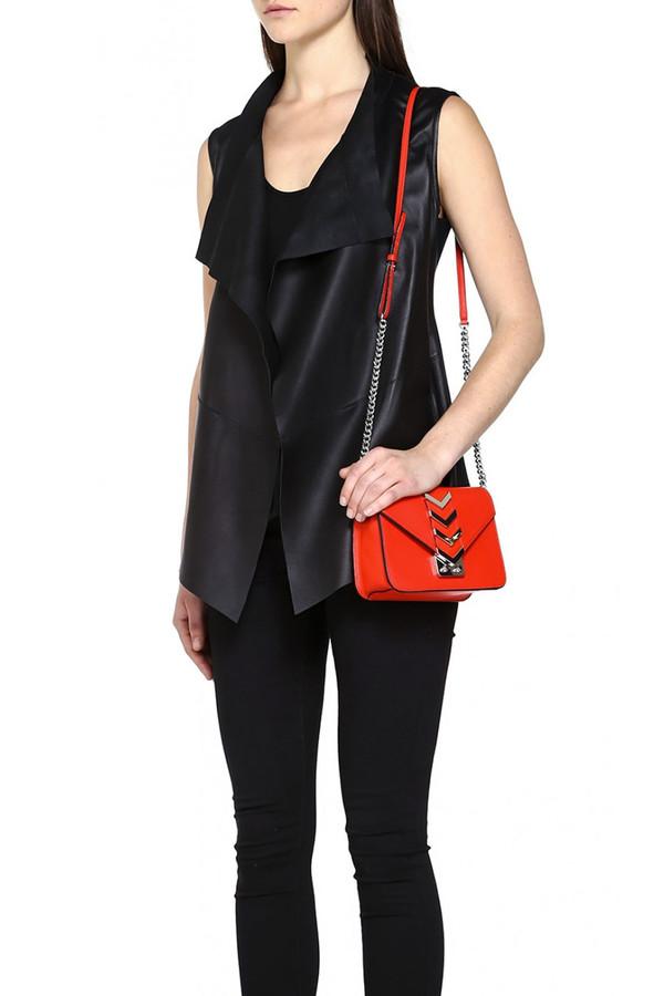 Mackage Haley Draped Leather Vest I Black