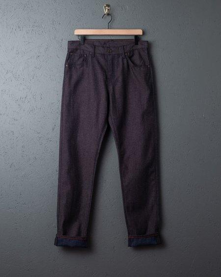 Raleigh Denim Workshop Raleigh Graham Bracken Canvas Jeans - INDIGO