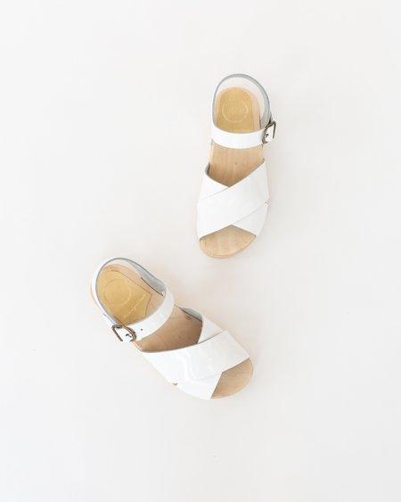 4ed31c61ec9a ... No.6 Coco Cross Front Sandal - White Patent